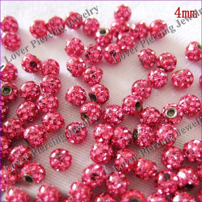 Good Quality Part Steel Epoxy Jeweled Ball Piercing Accessories Ball [BJ-147]