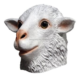 rubber halloween costume props latex goat mask latex sheep head costume - Costume Props