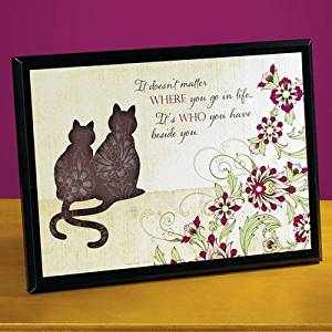 "Abbey Press ""It Doesn't Matter"" Plaque - Inspiration Faith Blessing Spirit Kitty Cat Cats 56383U-ABBEYUSA"