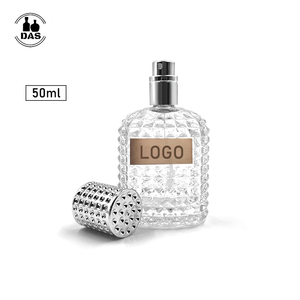 Empty Atomizer Bottle 50ml Refillable Clear Glass Luxury Spray Perfume Bottle