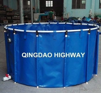 China pvc collapsible water pond for indoor fish breeding for Portable koi pond