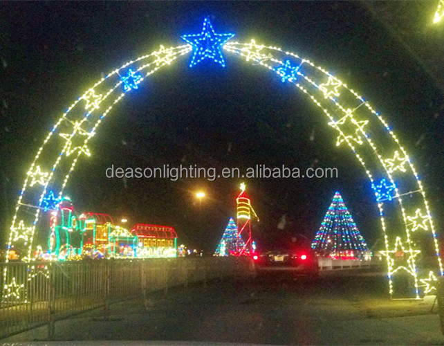 christmas lighted star shape motif/ outdoor street arch lights, led motif  arch - Christmas Lighted Star Shape Motif/ Outdoor Street Arch Lights,Led