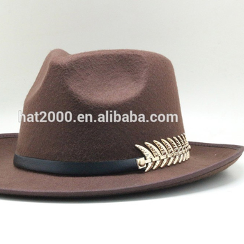 4efdb0eb1ad49e Vintage Men Women Hard Felt Hat Wide Brim Fedora Trilby Panama Hat ...