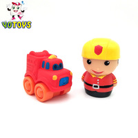 Hot diecast model play fireman and fire fighting truck toy set