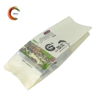 Moisture proof center seal rice packaging bag with gusset