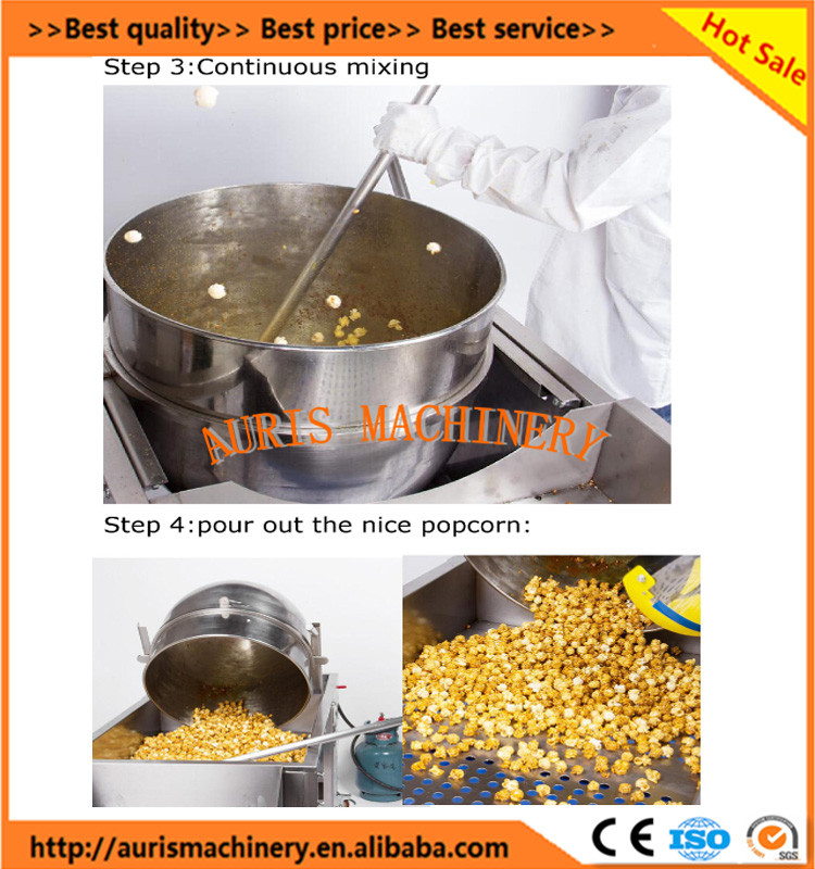 Gas shape mini popcorn machine,industrial popcorn making machine,sweet caramel popcorn machine on sale