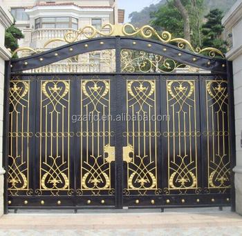 Steel Metal Entrance Gate, Wrought Iron Door Gates, Front Gate Designs