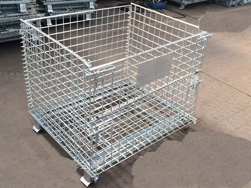 Stackable Wire Mesh Storage Pallet Cages