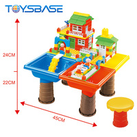 New Style Kids Play Learning Toys Folding Table 3D Building Blocks