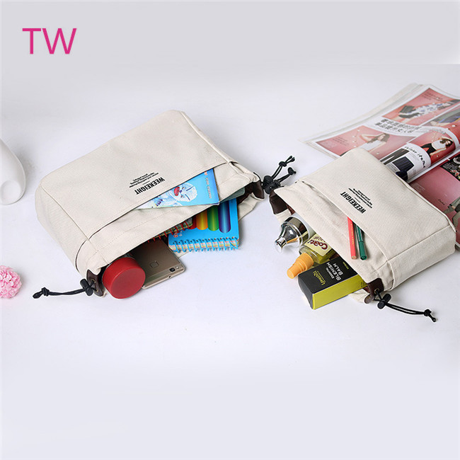 Newest Custom Printed Bulk 도매 컬러 풀 한 canvas zipper printing cute cosmetic bags 대 한 women 067