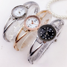 Free Shipping brand watches female models steel students bracelet waterproof quartz electronic ladies watch LNW371