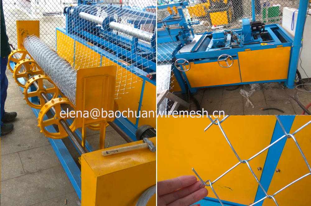 Single Wire Feeding Chain Link Fence Making Machine