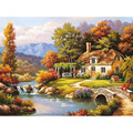 Frameless Fairyland Landscape DIY Painting By Numbers Kits Drawing Painting By Numbers Acrylic Paint On Canvas