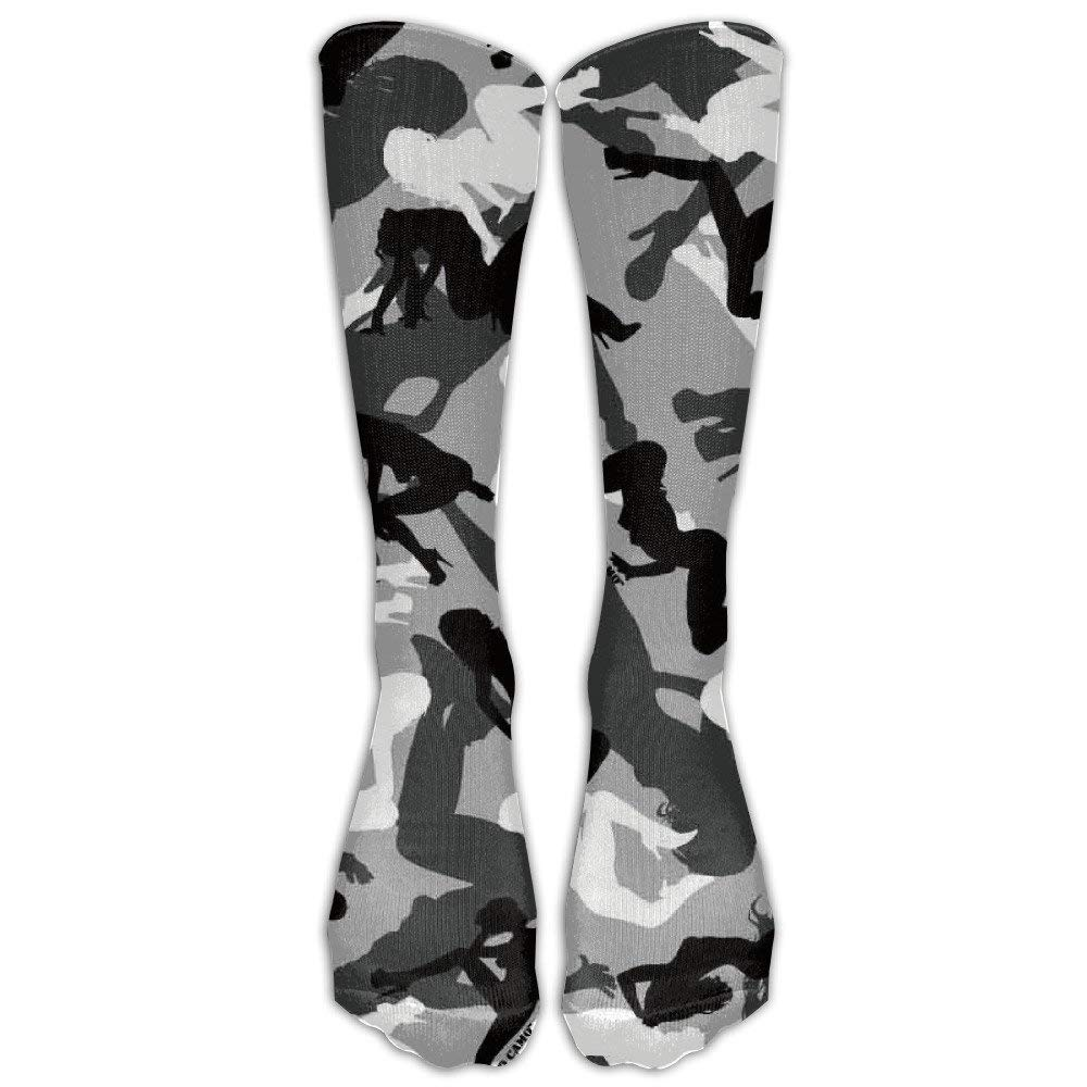 d6c516cf9 Get Quotations · Men s Women s Knee High Socks Camo Women Over-The-Calf  Socks