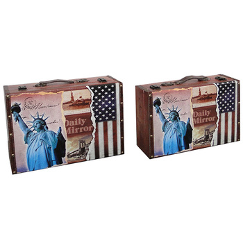 Superieur New York Design On Decorative Storage Case, Storage Suitcase, Decorative  Suitcase