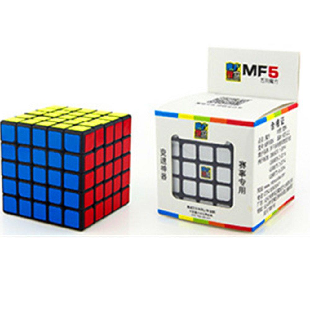 CuberSpeed Moyu 5x5 cube Mofang Jiaoshi mf5 Black Magic cube Cubing Classroom MF5 Black 5x5x5 Speed cube