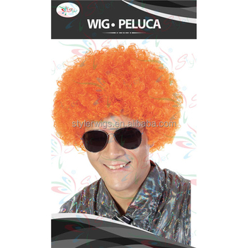 customized color sports fan wig