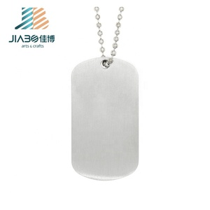 Stock sells blank Dog Tags stainless steel material Military Dog Tags Army Dogtags