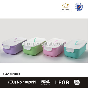 Cute Color Fashion New Design Plastic Lock And Lock Food Container