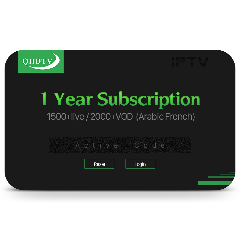 Best Selling Products QHDTV 1 Year Arabic IPTV Box Channels France Italy UK