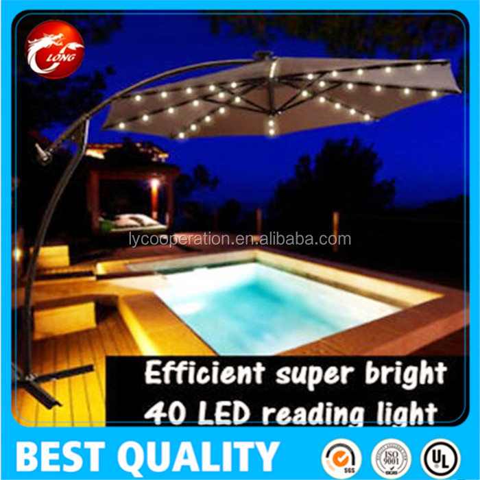 leisure ways outdoor patio umbrella solar led lights