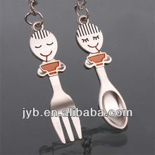 kitchen forks&scoop couple keychain for lovers