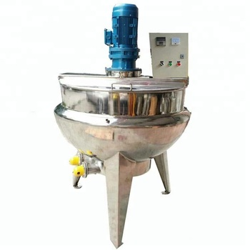 Electric double jacket pot with agitator