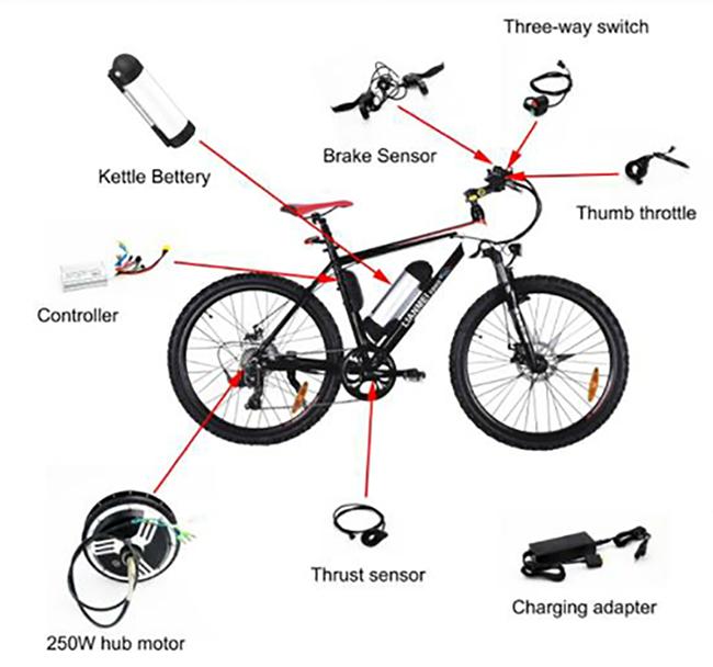 24v 250w 36v 500w 48v 1000w golden motor ebike conversion kit    electric bicycle kit    electric