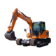 Cylinders Strong Power Wheel Shovel Trench Digger Crawler Excavator