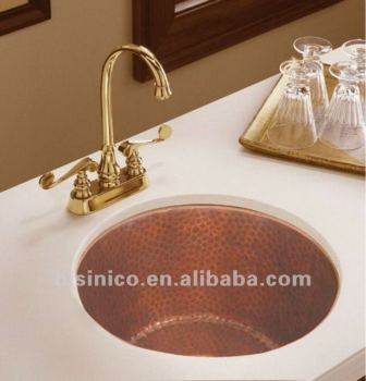 Copper Bar Sink/Antique Copper Sink/Copper Kitchen Basin/Classical Sink /Round