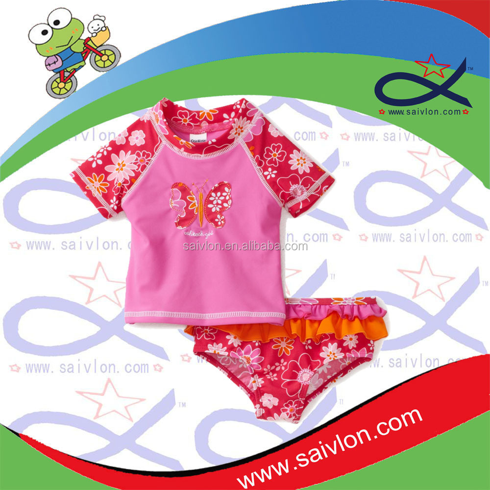 Kids Lycra Swimsuit Swimwear Shirt+Swim Shorts UV50+