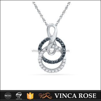 Multi function everlasting black and white silver two circle multi function everlasting black and white silver two circle pendant meaning aloadofball Image collections