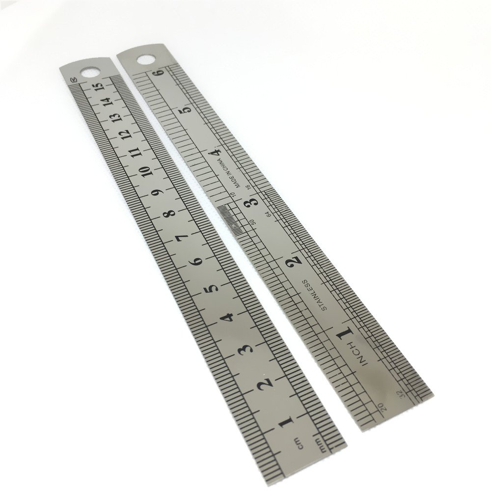 Get Quotations EvaGO 6 Pieces 100 Stainless Steel Rulers Inch 15 CM X