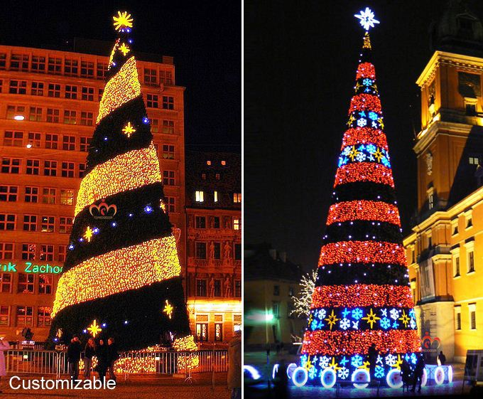 2015 New Large Lighted 3d Outdoor Led Christmas Tree