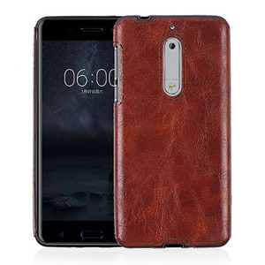 Classical crazy horse pattern pull- up leather cover mobile phone accessories phone cases for Nokia 5
