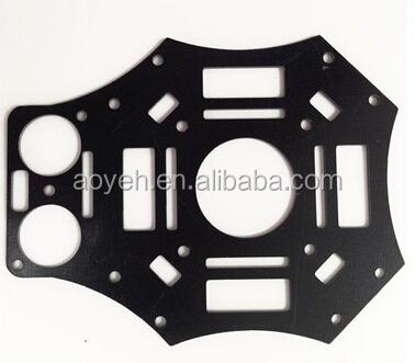 1.6mm thick matt black G10/FR4 CNC milling parts