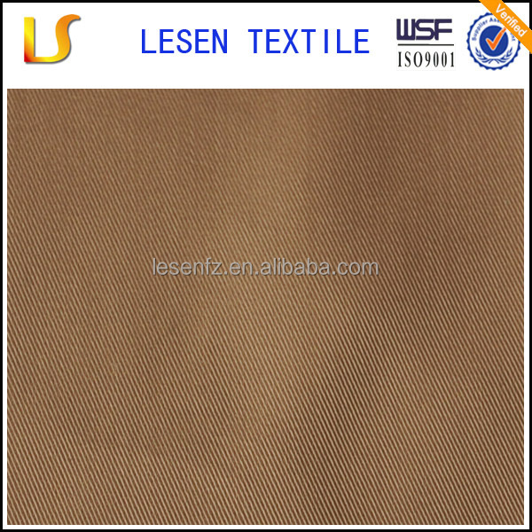 Lesen textile polyester semi dull twill polyester pongee