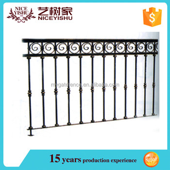 China Manufacturer Ornamental Wrought Iron Fence Decorative Metal Garden Fencing Wall Grill