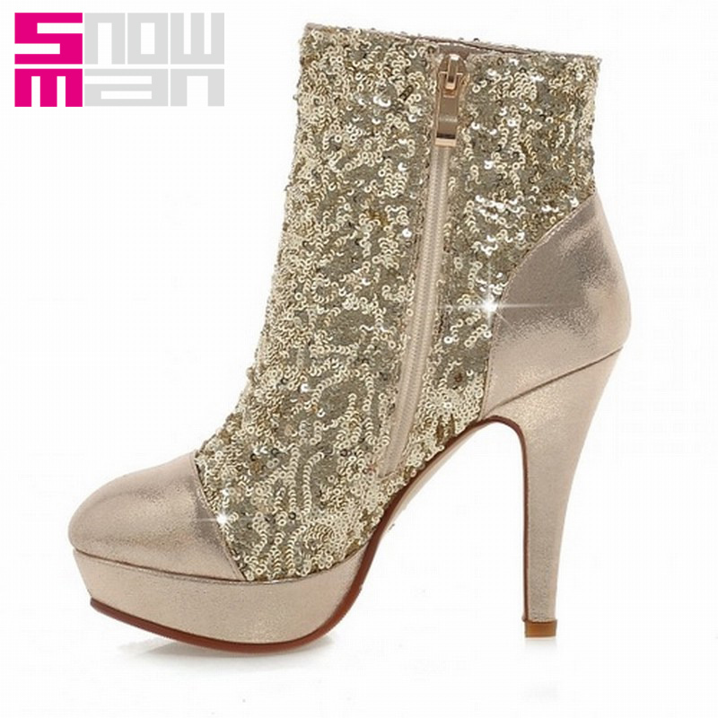 fa01e20372a5 Get Quotations · 2015 Brand High Heels Wedding Shoes Short Boots Fall  Winter Boots Women Shoes Woman Fashion Patchwork