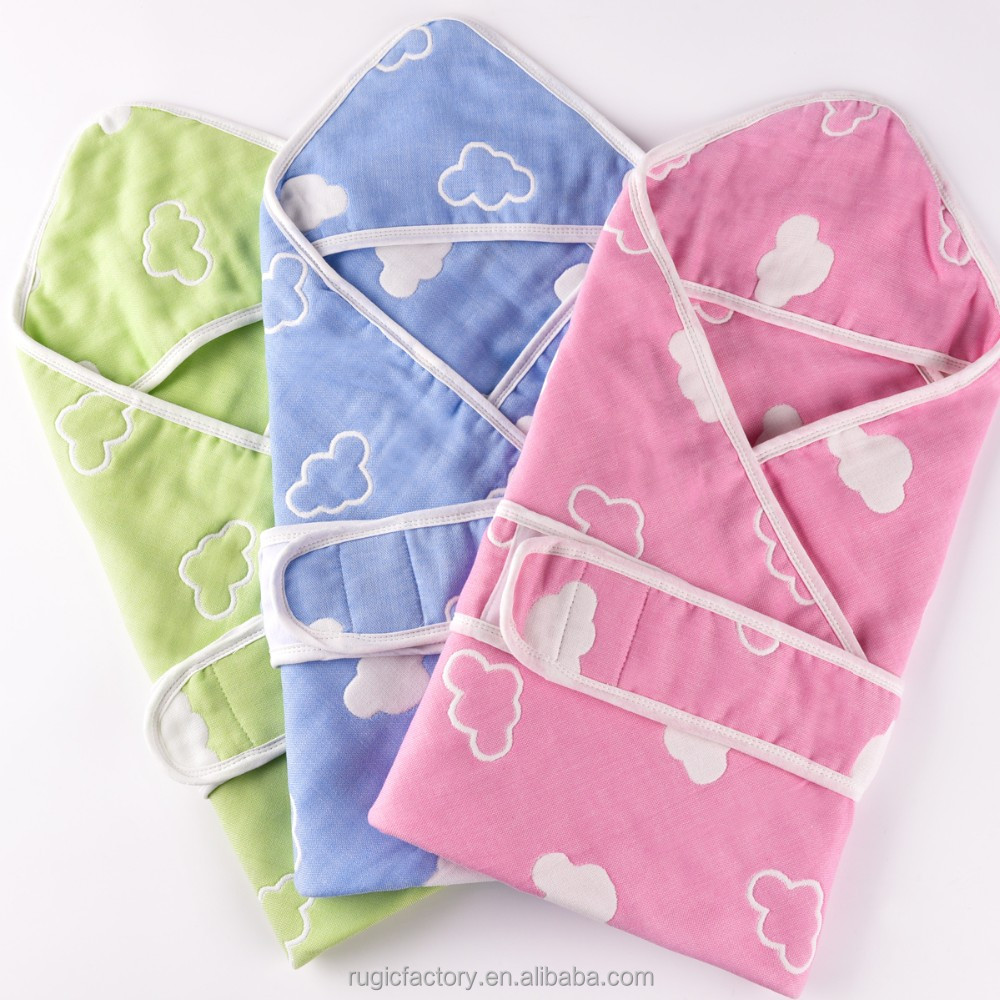 Baby Products Blanket Baby Pink Color Wrap Baby Blanket with Hood