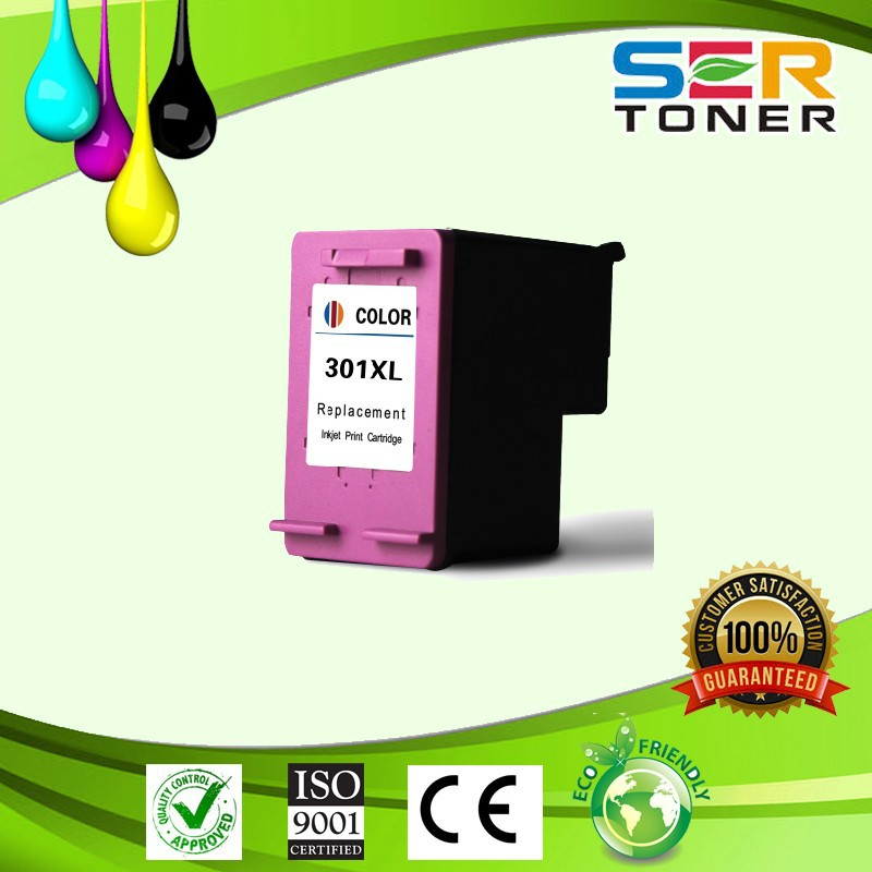 New version ink visible ! remanufactured ink cartridge for hp 301xl color