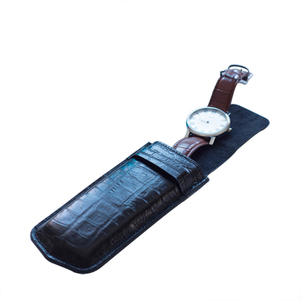 simple style leather watch travel pouch