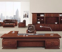 Large Luxury L Shape Design Wood Sets Traditional CEO Office Executive Desk