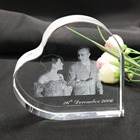 K9 Hot Sale Blank Heart-shaped Crystal 3d Laser Crystal Wedding Return Gift