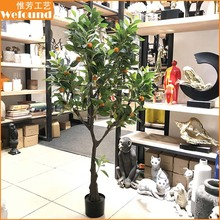WEFOUND sier kunstmatige bonsai plant <span class=keywords><strong>plastic</strong></span> <span class=keywords><strong>boom</strong></span> decoratie fruit bomen fake kunstmatige citroen <span class=keywords><strong>boom</strong></span>