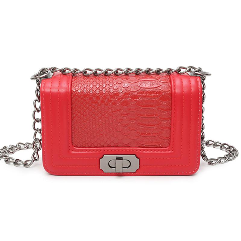 High Quality Designer Lady Handbag Messenger Bags,Vintage Chains Pattern Sling Bag,PU Leather Women Crossbody Shoulder Bag