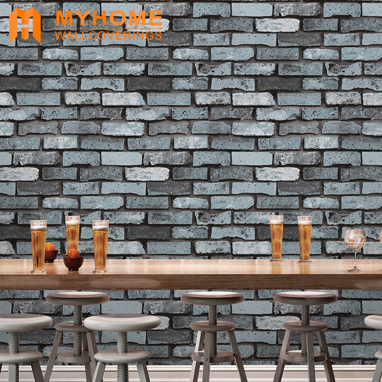 pvc brick stone 3d wallpaper