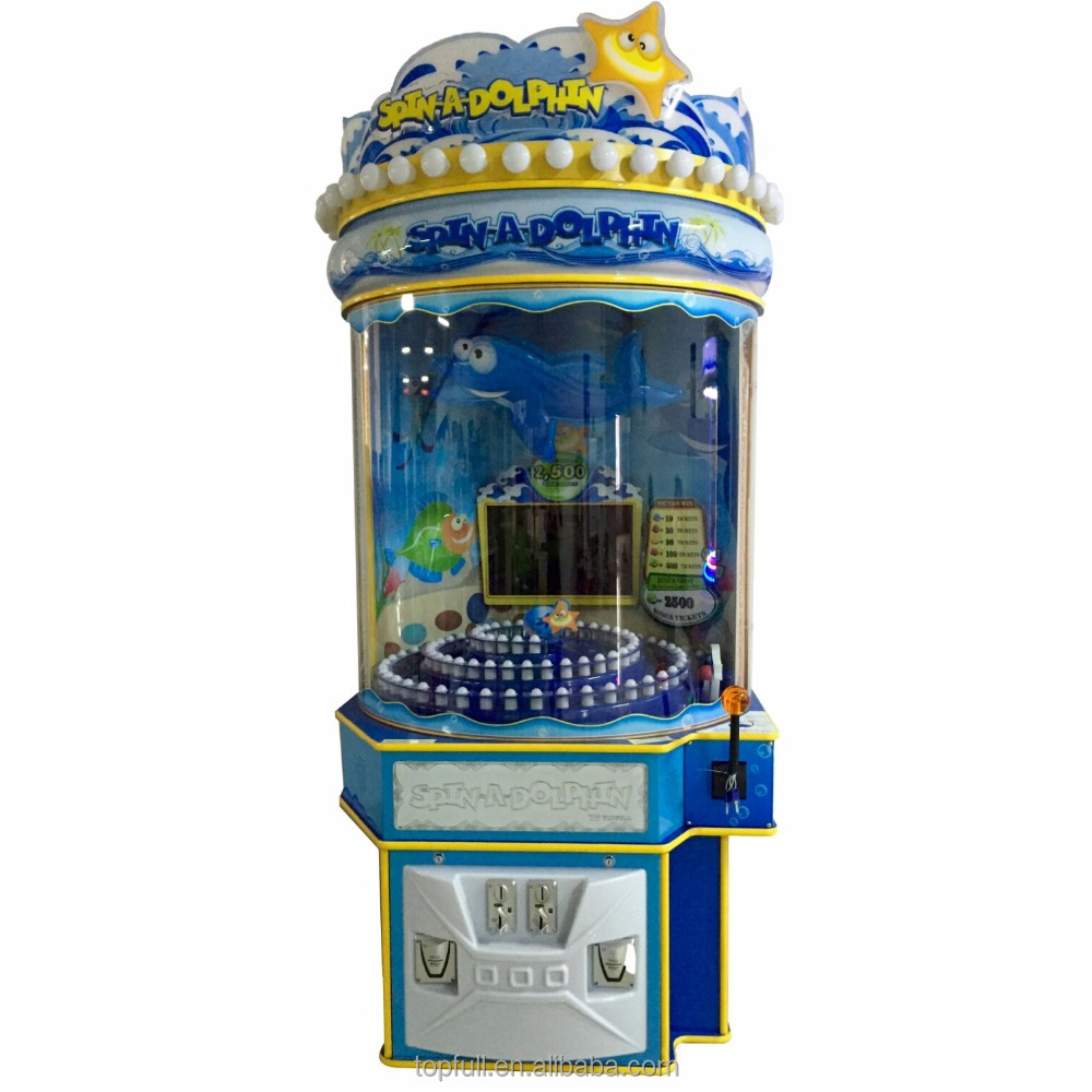 Spin A Dolphin Win Prize Shooting Ball Lottery Game Machine For Sale