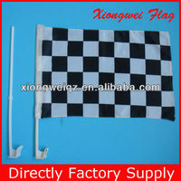 Black White Auto Racing Flag for Car
