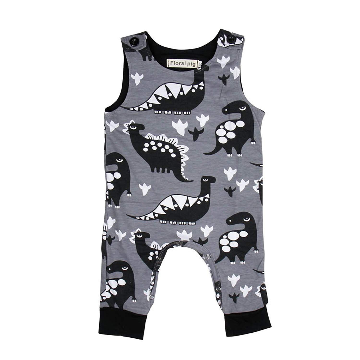 f613da24a Get Quotations · Hot Sale,Yamally Toddler Tank Tops Baby Boy Clothes Girl  Dinosaur Overall Vest Jumpsuit